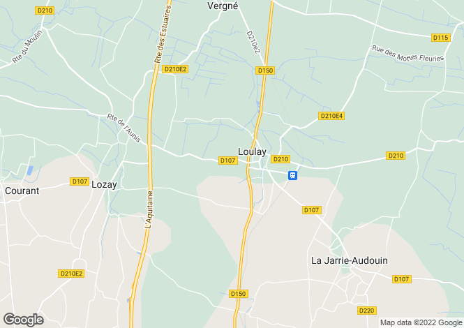 Map for Poitou-Charentes, Charente-Maritime, Loulay