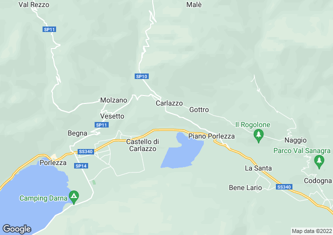 Map for Carlazzo, Italy