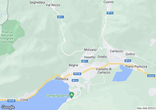 Map for Lombardy, Como, Porlezza