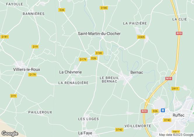 Map for Villefagnan, Poitou-Charentes, 16240, France