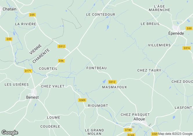 Map for Confolens, Poitou-Charentes, 16490, France