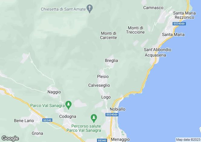 Map for Menaggio (Plesio), 22010, Italy