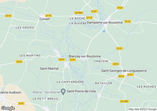 Map for blanzay-sur-boutonne, Charente-Maritime, France