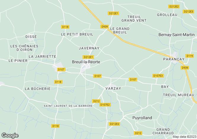 Map for breuil-la-reorte, Charente-Maritime, France