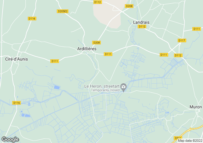 Map for ardillieres, Charente-Maritime, France