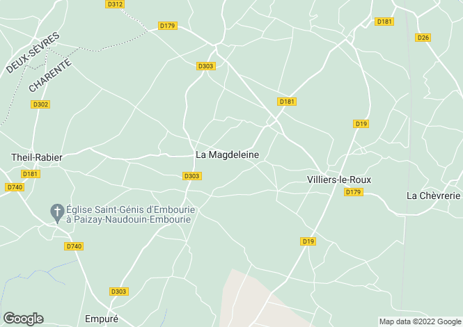Map for la-magdeleine, Charente, France