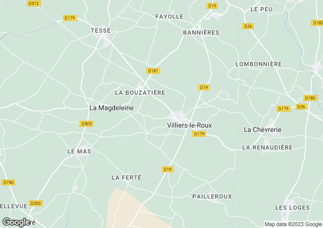 Map for villiers-le-roux, Charente, France