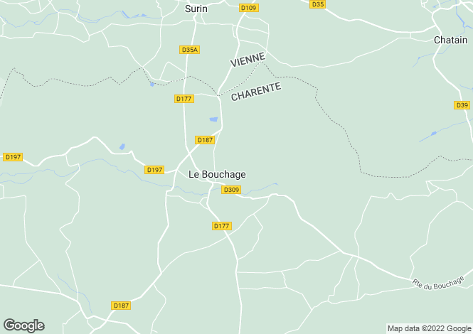 Map for le-bouchage, Charente, France