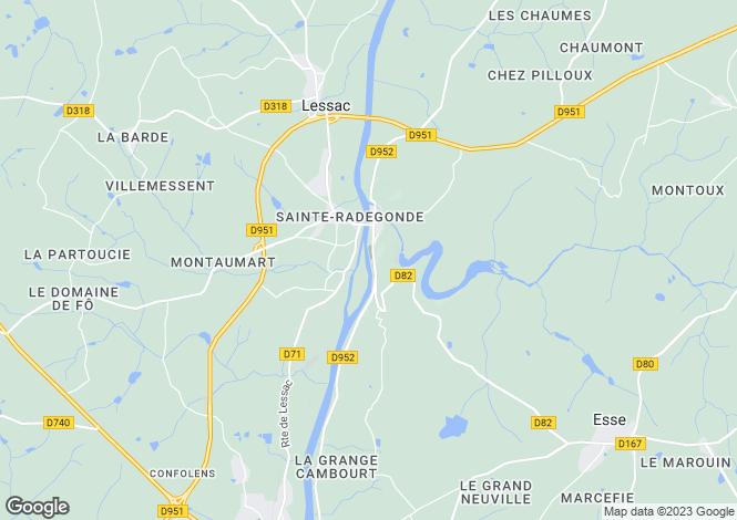 Map for st-germain-de-confolens, Charente, France