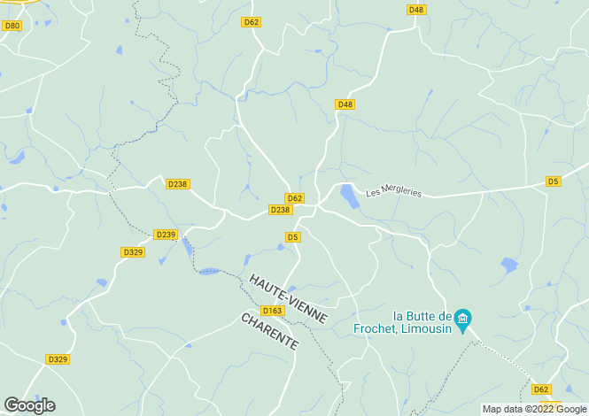 Map for bussiere-boffy, Haute-Vienne, France