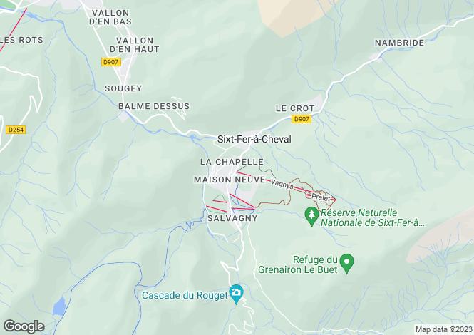 Map for Sixt-Fer-à-Cheval, Haute-Savoie, Rhone Alps