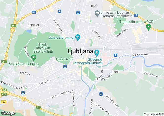 Map for Ljubljana Area, Katarina Nad Medvodami, Slovenia