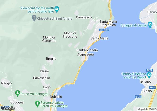Map for San Siro, Como, Lombardy