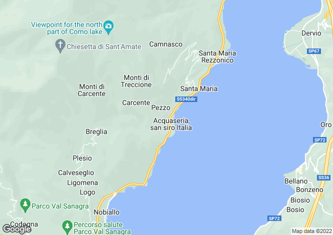 Map for Lombardy, Como, San Siro