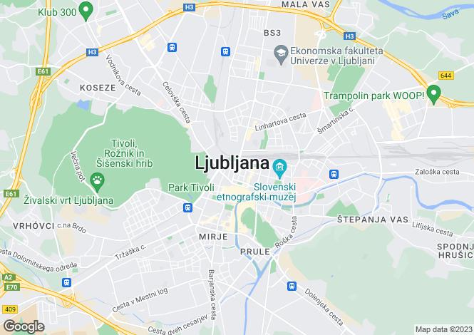 Map for Siska, Ljubljana, Slovenia