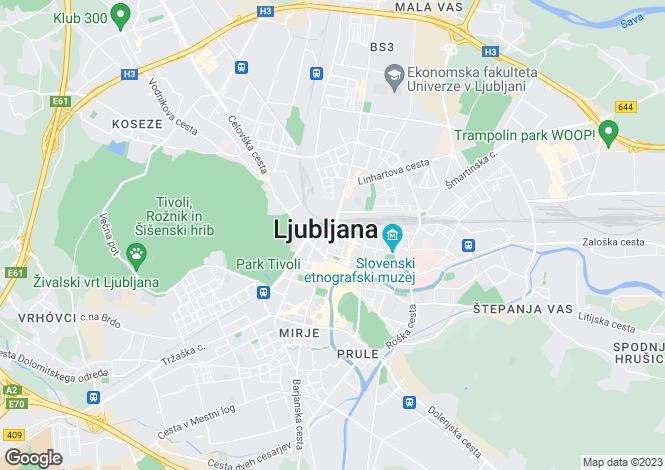 Map for Old Town, Ljubljana, Ljubljana Centre, Slovenia