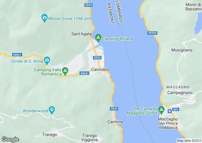 Map for Cannobio, Verbano-Cusio-Ossola, Piedmont