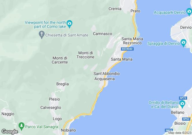 Map for Santa Maria Rezzonico, Lombardy, Italy