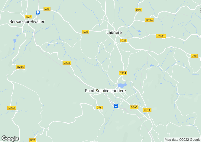 Map for st-sulpice-lauriere, Haute-Vienne, France