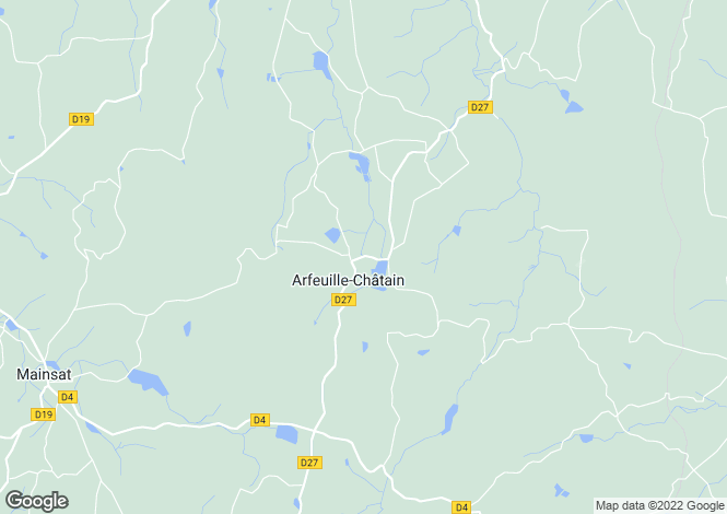 Map for arfeuille-chatain, Creuse, France