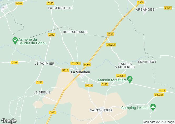 Map for la-villedieu, Charente-Maritime, France