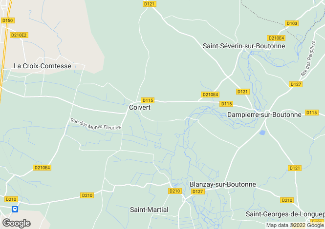 Map for Poitou-Charentes, Charente-Maritime, Coivert