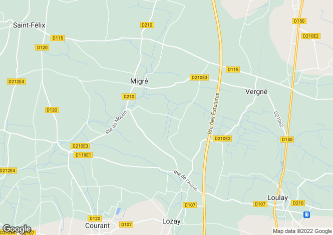 Map for migre, Charente-Maritime, France