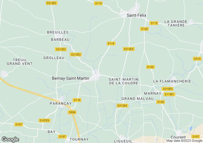 Map for BERNAY SAINT MARTIN,