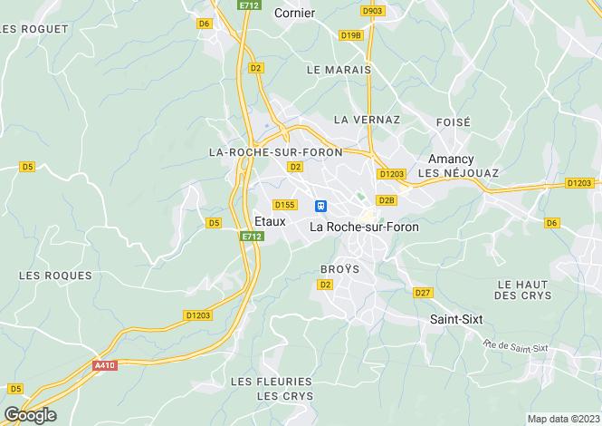Map for Etaux, 74800, France