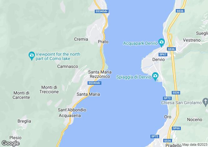 Map for Lombardy, Como, Santa Maria Rezzonico