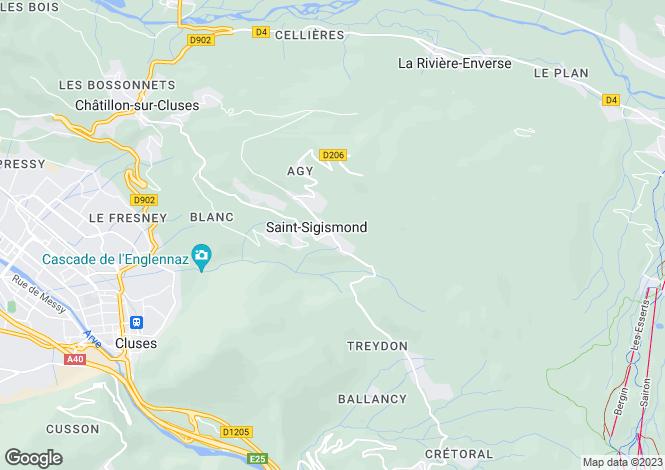 Map for Saint Sigismond, Haute Savoie, France, 74300