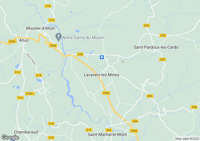 Map for LAVAVEIX LES MINES, 23150, France