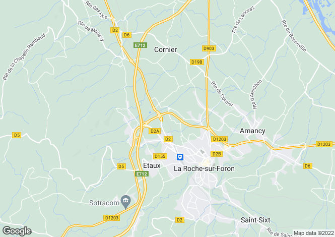 Map for La Roche sur Foron,France