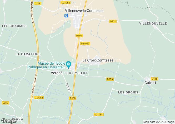 Map for Poitou-Charentes, Charente-Maritime, La Croix-Comtesse
