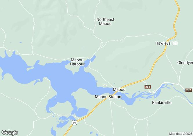 Map for Mabou, Nova Scotia