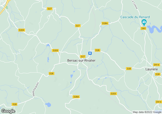Map for bersac-sur-rivalier, Haute-Vienne, France