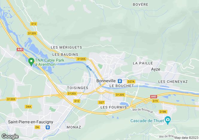 Map for bonneville, Haute-Savoie, France