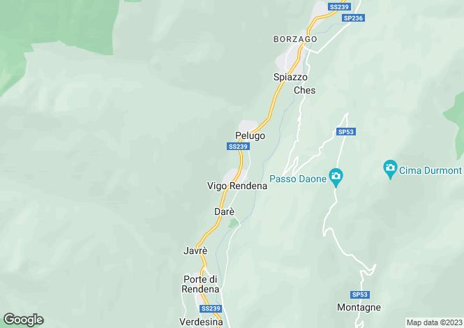 Map for Trentino-South Tyrol, Trento, Vigo Rendena