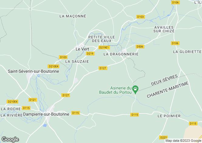 Map for le-vert, Charente-Maritime, France