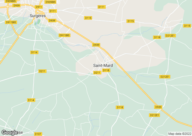 Map for st-mard, Charente-Maritime, France