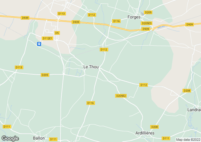 Map for le-thou, Charente-Maritime, France