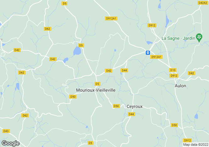 Map for MOURIOUX VIEILLEVILLE, 23210, France