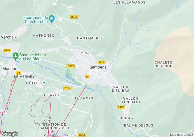 Map for Samoëns, Haute Savoie, France, 74340