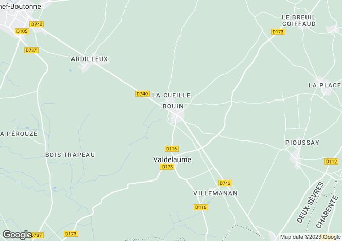 Map for Ruffec, Poitou-Charentes, 79110, France