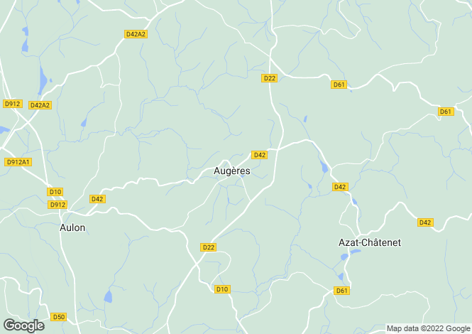 Map for augeres, Creuse, France