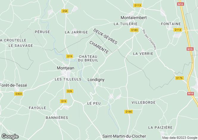 Map for Londigny, Poitou-Charentes, 16700, France