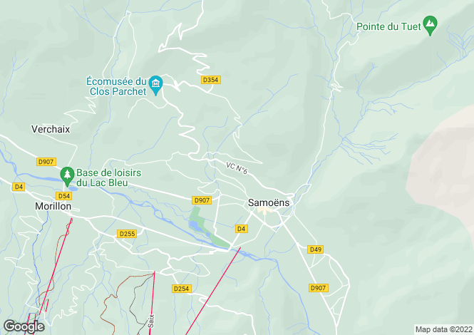 Map for Samoëns, Haute-Savoie, Rhone Alps