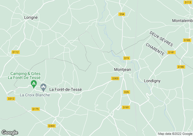 Map for Montjean, Poitou-Charentes, 16240, France