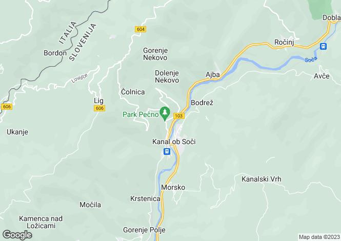 Map for Nova Gorica, Kanal