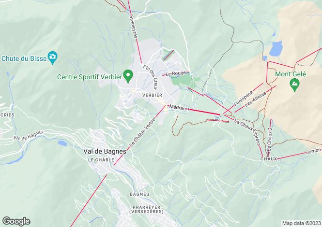 Map for Grand Soleil 130, Verbier, Valais